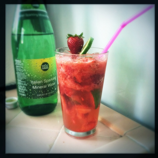 Strawberry, Ginger, & Lime Mocktail