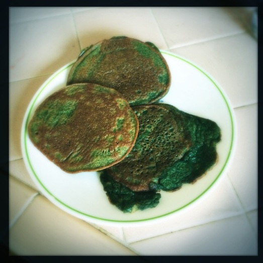 Science-y Green Pancakes