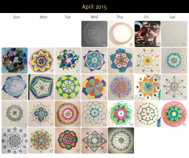 April 2015 Mandalas