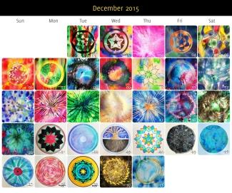 December 2015 Mandalas