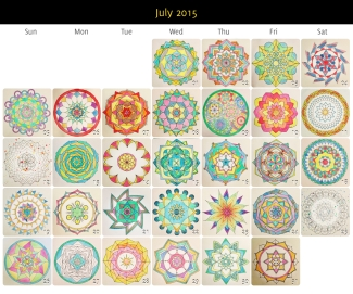 July 2015 Mandalas