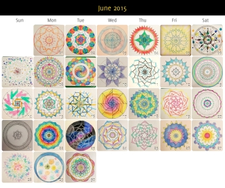 June 2015 Mandalas