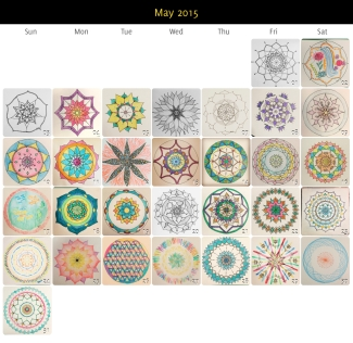 May 2015 Mandalas