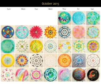 October 2015 Mandalas