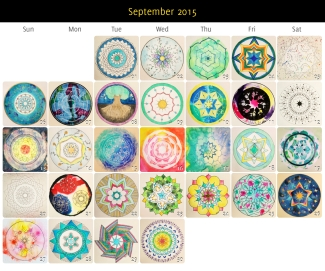 September 2015 Mandalas