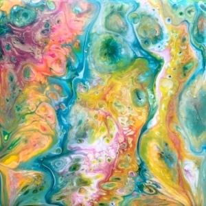Using glazed ceramic as a substrate – Flamingo Pink & Aqua